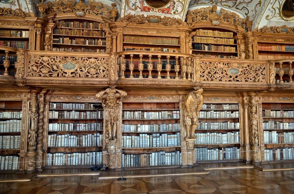 West bohemen duitsland waldsassen kloosterkerk bibliotheek - Tot zijn bibliotheek ...