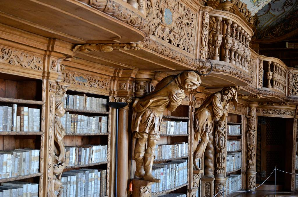 West bohemen duitsland waldsassen kloosterkerk bibliotheek - Bibliotheek balances ...