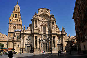 Murcia - one of the most interesting cathedrals of Spain, build in Gothic and baroque style.