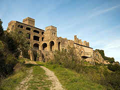 Sant Pere de Rodes - an old impressive Romanesque monastery church in northeast Spain.