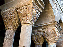 Santa Maria de L'Estany - an old Romesque church with a cloister with very interesting capitals.