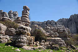 a  special rocky landscape  'El Torcal' in  southern Spain