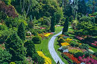 the famous Butchart Gardens on Vancouver Island